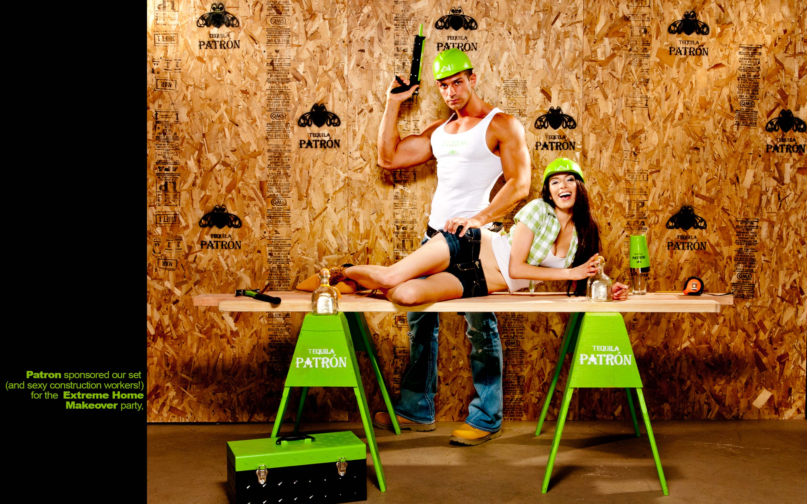 Patron Tequila Photo Booth At Extreme Home Makeover Party